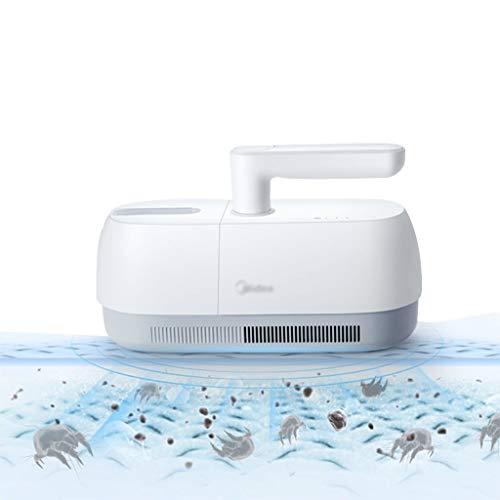 Stabstaubsauger Fußbodenpflege Handteppichreiniger Sofareiniger Matratzenreiniger Drahtlose Milbenentfernung UV-Sterilisation (Color : Weiß, Size : 11.4 * 28 * 11.2cm)