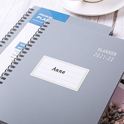 """Product Image 4: 2021-2022 Planner – Jul 2021- Jun 2022, 6.25"""" × 8.3″, Academic Planner 2021-2022 with Weekly & Monthly Spreads, Strong Twin-Wire Binding, Round Corner, Improving Your Time Management Skill"""