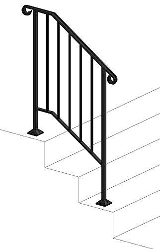 Iron X Handrail Picket #2 (No Fasteners)