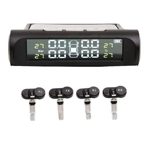 HaiMa 468 Sensor Incorporado Monitor De Presión De Neumáticos Solares - Negro