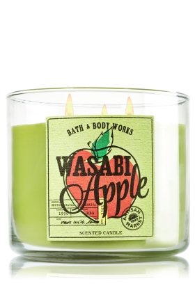 Bath & Body Works 2014 Artisan Market Home Collection WASABI APPLE 3 Wick Scented Candle 14.5 oz./411 g