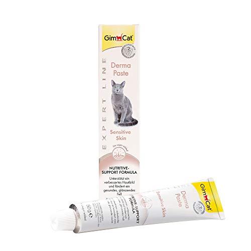 GimCat Expert Line Derma Pasta - Snack per Gatti Funzionale Che migliora l'Aspetto della Cute e favorisce la Salute del Pelo - 1 tubetto (1 x 50 g)