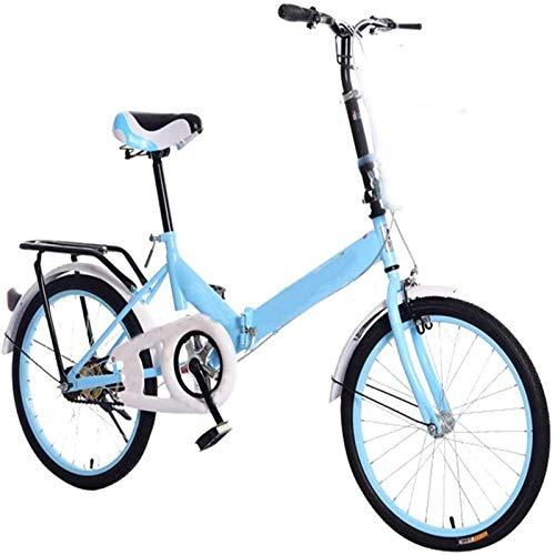YSHUAI Folding Bike Leisure Folding Bike Foldable Sports Mountain Bike, 20 Inch Folding Bikes Racing Bikes Variable Speed Double Disc Brake,A
