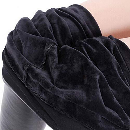 Leggings Plus Cashmere Damen Samt Warme Wintergamaschen Damen Lederhose Kunstleder Legging Hose Mit Hoher Taille Schwarz Plus Size XXXL Plusvelvet