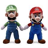 Yzhome Mario Bros Luigi Mario Peluches 2 Piezas 32-38 Cm Pie Mario Peluches Suaves Muñecas para Niños Niños Creativo Lindo Bebé Peluche