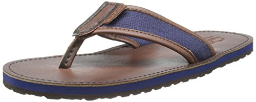 Polo Ralph Lauren Men's Sullivan Flip-Flop,Newport Navy/Dark Brown,12 D US