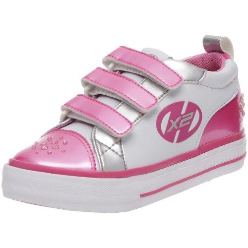 Heelys Unisex-Kinder Sparkler Sneaker, Weiss/White/pink/Silver, 30 EU