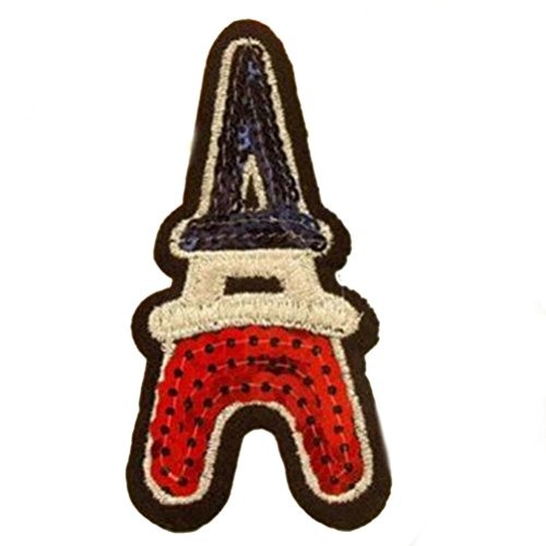 Buytra 12 Pieces Iron on Patches Embroidered Motif Applique Glitter Sequin Decorative Sew on Patches for Jeans, Jackets, Clothing, Assorted