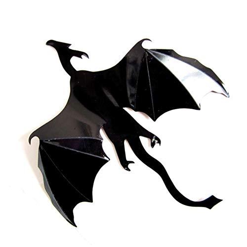 Momangel Halloween-Dekorationen, 7pcs 3D Dinosaurier Drache DIY Wandaufkleber Aufkleber Fenster Aufkleber Halloween Tür Decor multi