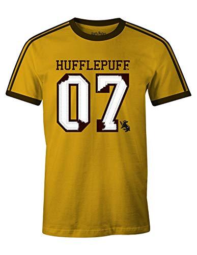 Camiseta Harry Potter para Hombre Hufflepuff Quidditch Finder 07 Cedric Diggory Cotton Yellow - L