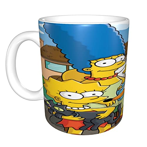The Simpsons - Taza de café para capuchino, latte o té caliente, 330 ml