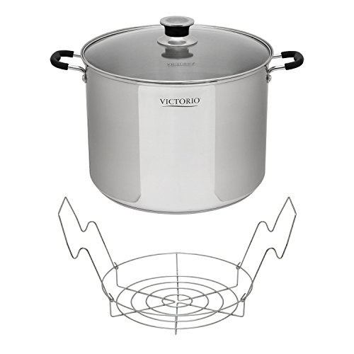 Victorio Stainless Steel Multi-Use Canner w/ Canning Rack