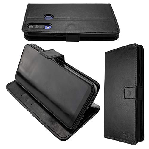 caseroxx Handy Hülle Tasche kompatibel mit Beafon M6 Bookstyle-Hülle Wallet Hülle in schwarz