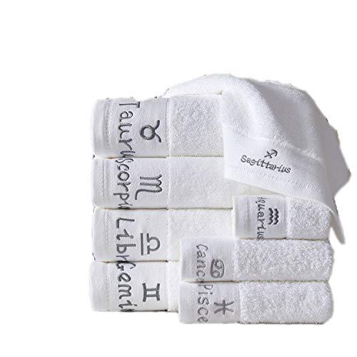 URi Home Constelación personalizada bordado conjunto de toallas (Pisces)