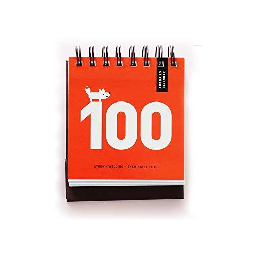 Calendarios organizadores personales 100 días de cuenta atrás Calendario planificador diario del calendario de escritorio portátil de aprendizaje Horario Agenda Escuela periódica Estacionario Calendar