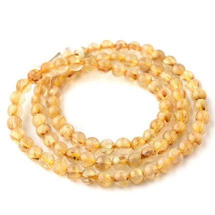 ZHIBO - Pulsera para Mujer con múltiples Anillos, Cristal de Titanio Dorado, Cristal Amarillo