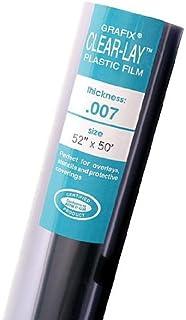 Grafix Clear-Lay Plastic Film 0.003 40 in. x 12 ft. roll