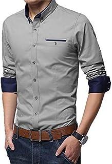 TRACI Fashion Full Sleeve Slim Fit Plain Formal Shirt for Men,Cotton Shirts,Office wear,Formal Shirt