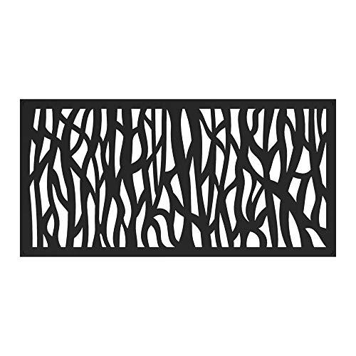 Barrette Outdoor Living 73030564 2'x4' Sprig Decorative Screen, Black