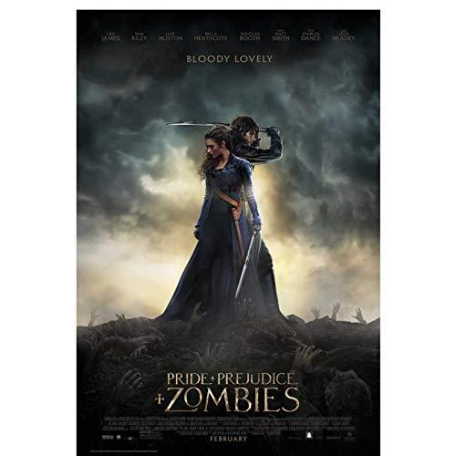 Stolz und Vorurteil und Zombies (2016) Filmplakate bedecken Leinwandbilder für Schlafzimmerwanddekorationskunstwerke -50x70cm Kein Rahmen