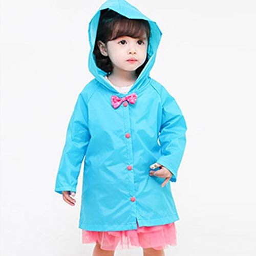 WYJW Waterdichte Kids Jassen Waterdichte Baby Prinses Lange Poncho Sectie Kid Student Jongens En Meisjes Regenkleding XL Blauw
