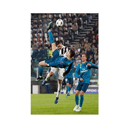 Póster deportivo de Cristiano Ronaldo con diseño de jugador de fútbol 05, lienzo para decoración de dormitorio, paisaje, oficina, habitación, regalo, 30 x 45 cm, estilo unframe-1