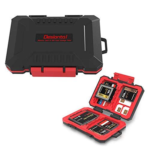Custodia per Scheda SD, Custodie per schede di memoria per 4*CF/4*XQD 8*SD 12*TF 1*SIM 2*NANO SIM 2*MICRO SIM 1*Pin della scheda, Proteggi scatola Impermeabile, antiurto e portatile a prova di polvere