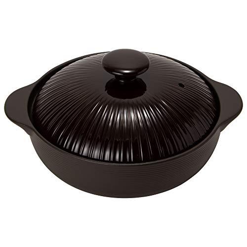 TAMAKI 土鍋 サーマテック 3-4人用 チョコレート 直径33.3×奥行27.6×高さ16cm IH・直火・電子レンジ・オーブン対応 THM20-910