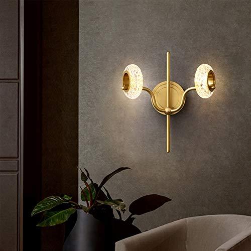 Lámpara industrial, Nueva pared de cobre lámpara del dormitorio de noche de diseño lámpara de pasillo lámpara del salón de la pared de fondo del estudio pasillo (cabeza simple y doble) ,Decoración del