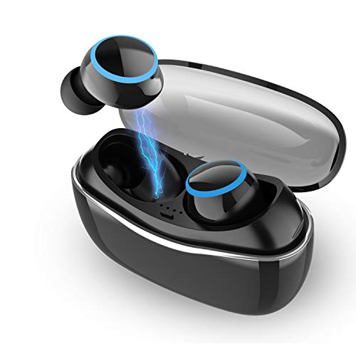 Wireless Earbuds Touch Control with Charging Case(40 Hrs Playtime), Cordless Bluetooth 5.0 Earphones with Microphone for Running/Gym/Sports/Workout