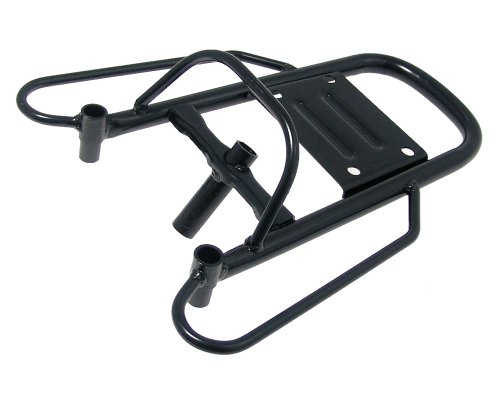 2EXTREME Gepäckträger Aluminium schwarz für BAOTIAN BT49QT-9, FLEX-TECH SPEEDY, SPRINT, REX Monza, RS