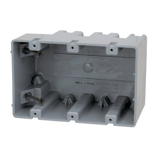 Madison Electric Products MSB3G Three Gang Device Box with Depth Adjustable, Heavy Duty 42lb