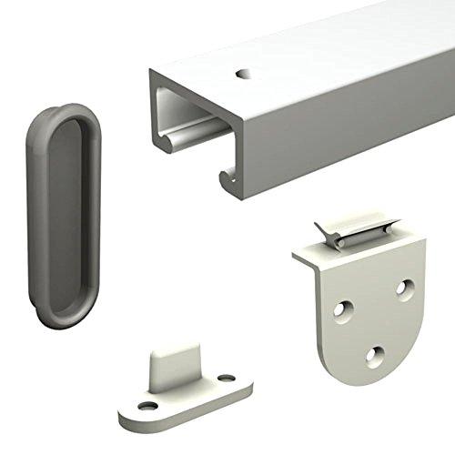 Mantion Schiebetürbeschlag MINITUB 100 cm Doppelset für 2 kleine Möbeltüren