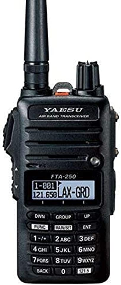 Yaesu FTA-250L Handheld VHF Airband Transceiver (Comm only) (Renewed)