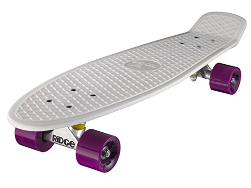 Ridge Skateboard Big Brother Nickel 69 cm Mini Cruiser, weiß/lila