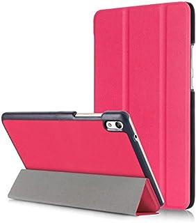 MS factory HUAWEI MediaPad T2 8 Pro ケース 3点セット 【保護フィルム+クリーニングクロス】 付 三つ折 タブレット カバー スマート PUレザー ローズピンク MPt2-8P-3FOLD-RS