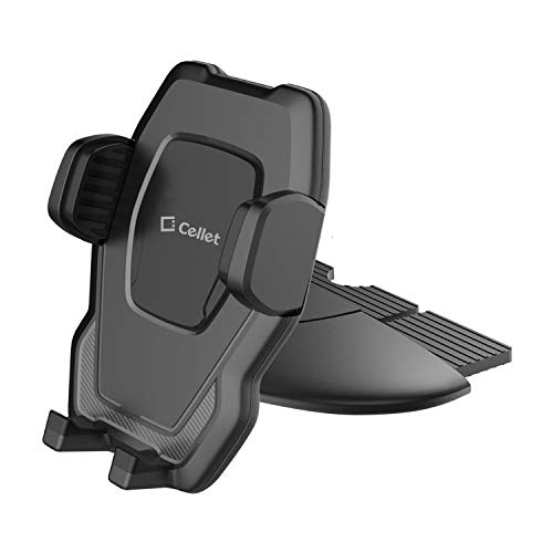 Cellet CD Slot Phone Holder, Cradle Mount with One-Touch Design Compatible for Samsung Note 10 9 8 Galaxy S10 + A6 S9 Plus S8+ S8 Active J7 J3 S7 S7 Edge S6 S6 Edge+ S6 Edge, S6 Active