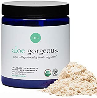 Ora Organic Vegan Collagen-Boosting Powder for Women and Men - Hair, Skin, & Nails Support - Bamboo Silica,...