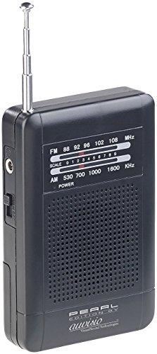 PEARL Batterie Radio: Analoges Taschenradio TAR-202 mit UKW- und MW-Empfang (Mini UKW Radio)