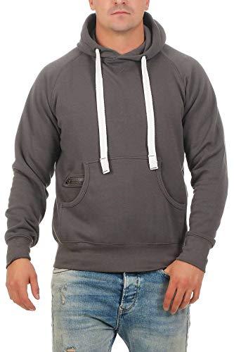 Happy Clothing Herren Pullover Dunkelblau mit Kapuze Pulli Übergröße bis 3XL 4XL 5XL, Größe:5XL, Farbe:Anthrazit
