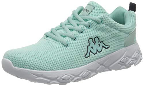 Kappa Unisex-Erwachsene CLIFFIN KNT Sneaker, 3767 Mint/Navy, 36 EU