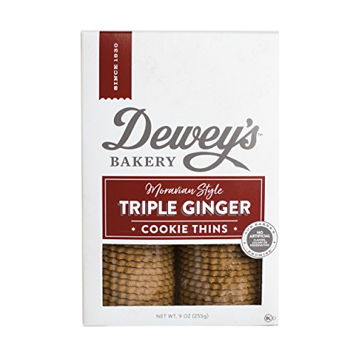 Salem Baking Co. Dewey's Moravian Style Ginger Cookie Thins 9 Ounce (Triple Ginger)