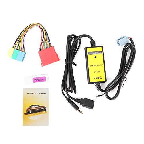 8-poliger CD-Wechsleradapter, 20-Hz-20-kHz-MP3-USB-Audio-Auto-AUX-Schnittstelle Eingebauter Verstärkerchip Passend für den Sitz