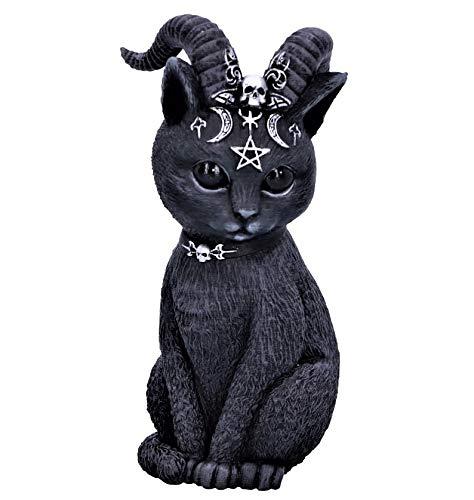 Seven Secrets Pawzuph Horned Occult Cat Figurine Ornament Statue Goat of Mendes Baphomet | 5148