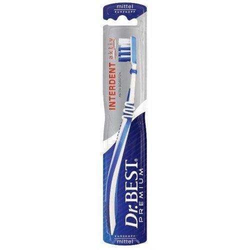Dr.BEST Interdent Aktiv Kurzkopfzahnbürste Mittel, (6 x 1 Stück), für eine gründliche Reinigung der Zahnzwischenräume mit Spezialborsten