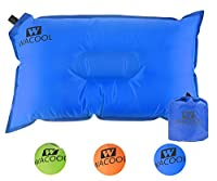 WACOOL Inflatable Travel Camp Pillow, Self Inflating Travel Camp Pillow, Air Travel Camp Pillow (Blue)