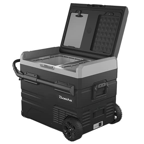 Dreiha CBX45-LR Nevera Portátil con compresor LG, CoolingBox 45-LR con una capacidad de refrigeración de +20°C a -20°C, Conexiones 12V / 24V 0 110V/ 220V para coche, camión, barco y autocaravana