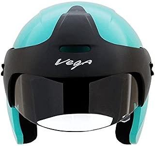 Vega BUD-OF-MB Half Face Helmet (Blue, XS)