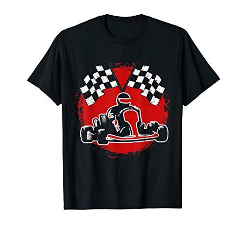 Go Karten racing auf der Kartbahn Geschenk T-Shirt