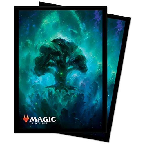 Ultra Pro Magic The Gathering-Standard 18288 Lot de 100 Manchons de Protection pour Pont Motif forêt céleste